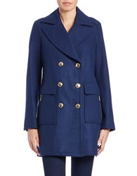Michael Michael Kors Double Breasted Pea Coat Sapphire Blue