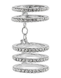 A.B.S. By Allen Schwartz Pave Chain Link Ring Silver