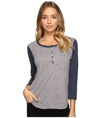 Volcom Down To Ride Henley Sea Navy Women's Clothing