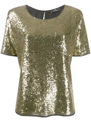 Paul Smith Ps Sequin T Shirt Gold