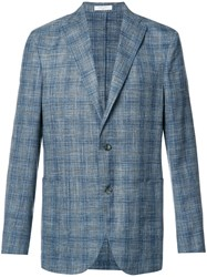 Boglioli Plaid Blazer Blue