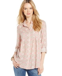 Style And Co. Tile Print Button Front Shirt Only At Macy's Tradition