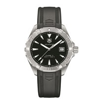 Tag Heuer Aquaracer Rubber Strap Automatic Watch Black
