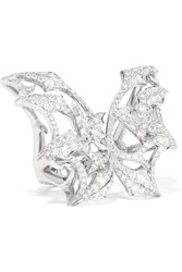 Stephen Webster Fly By Night 18 Karat White Gold Diamond Ring