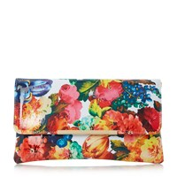 Dune Bower Floral Print Clutch Multi Coloured Multi Coloured
