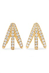 Melissa Kaye Cris 18 Karat Gold Diamond Earrings One Size