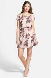 Frenchi Floral Print Woven Dress Juniors Pink
