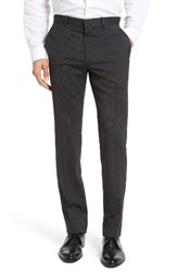Theory Men's Marlo Flat Front Stripe Stretch Wool Trousers