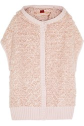 Missoni Hooded Wool Blend Boucle Vest Blush
