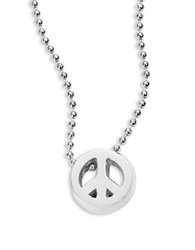 Alex Woo Sterling Silver Peace Sign Icon Necklace