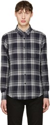 Naked And Famous Denim Grey Soft Check Shirt