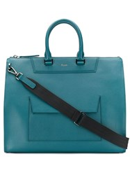 Pineider Zipped Holdall Blue