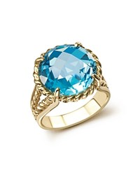 Bloomingdale's Blue Topaz Round Briolette Statement Ring In 14K Yellow Gold Blue Gold