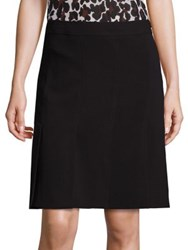 Trina Turk Solid Pleated Skirt Black