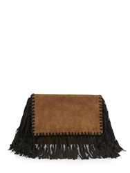 Isabel Marant Swila Fringed Suede Clutch