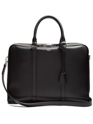 Tod's Logo Print Leather Briefcase Black