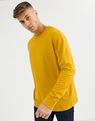 New Look Cuffed Long Sleeve Top In Yellow