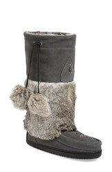 Women's Manitobah Mukluks 'Snowy Owl' Genuine Fur And Suede Mukluk