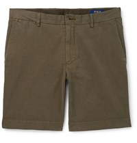 Polo Ralph Lauren Pima Cotton Twill Chino Shorts Brown