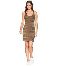 Alternative Apparel Eco Jersey Printed Tank Dress Camo Multi