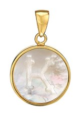 Asha Women's Mother Of Pearl Initial Charm K
