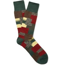 Anonymous Ism Jacquard Knit Socks Green