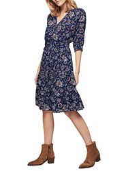 Gerard Darel Palmer Dress Blue