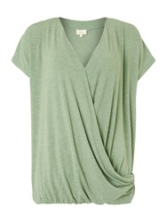 Linea Drape Front Top Green