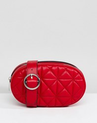 Stradivarius Quilted Bum Bag Red