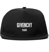 Givenchy Printed Canvas Baseball Cap Black