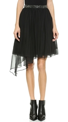 Haute Hippie Asymmetrical Full Tutu Skirt Black