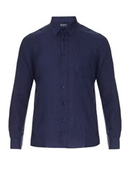Vilebrequin Long Sleeved Linen Shirt Navy