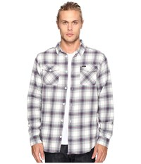 Rvca That'll Work Flannel Long Sleeve Antique White Men's Clothing