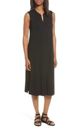 Eileen Fisher Women's Jersey Mandarin Collar Duster Dress