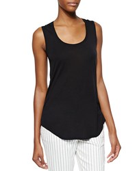 Atm Anthony Thomas Melillo Sweetheart Jersey Knit Tank Top Black