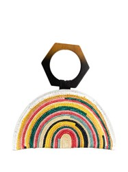 Eugenia Kim Semi Circular Handbag With Geometric Hand Strap Yellow