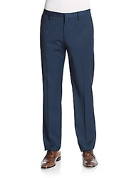 Saks Fifth Avenue Flat Front Pants Navy