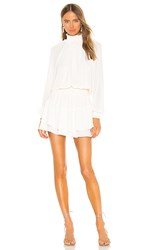 Krisa Smocked Turtleneck Dress In Cream.