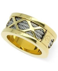 Charriol Womens Two Tone Multi X Cable Ring Two Tone