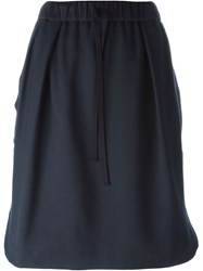 Odeeh Drawstring Waist Skirt Blue
