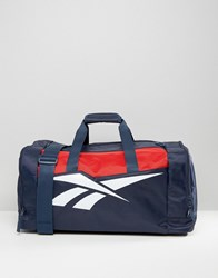 Reebok Classics Travel Bag In Navy And Red Navy Blue