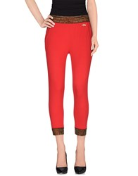 Met Trousers 3 4 Length Trousers Women Red