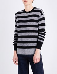 Mcq By Alexander Mcqueen Metallic Striped Wool Blend Jumper Multi Lurex
