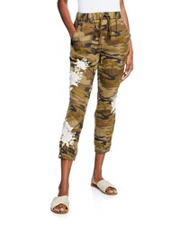 Johnny Was Sadie Straight Leg Linen Jogger Pants Molly Camo