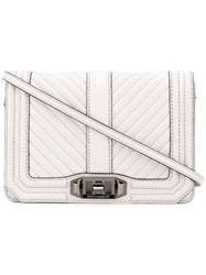Rebecca Minkoff Quilted Flap Crossbody Bag Women Leather Polyester One Size Grey