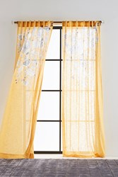 Anthropologie Felicity Curtain Gold