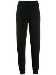 Theory Slim Fit Cashmere Trousers Black