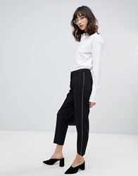 Selected Norra Cropped Tailored Trousers Black