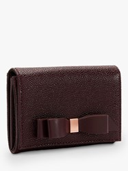 Ted Baker Leonyy Leather Mini Purse Bordeaux