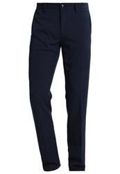United Colors Of Benetton Suit Trousers Blue Dark Blue